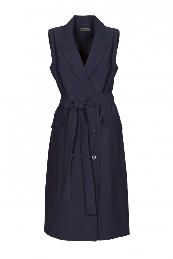 Blazer-style dress with a belt