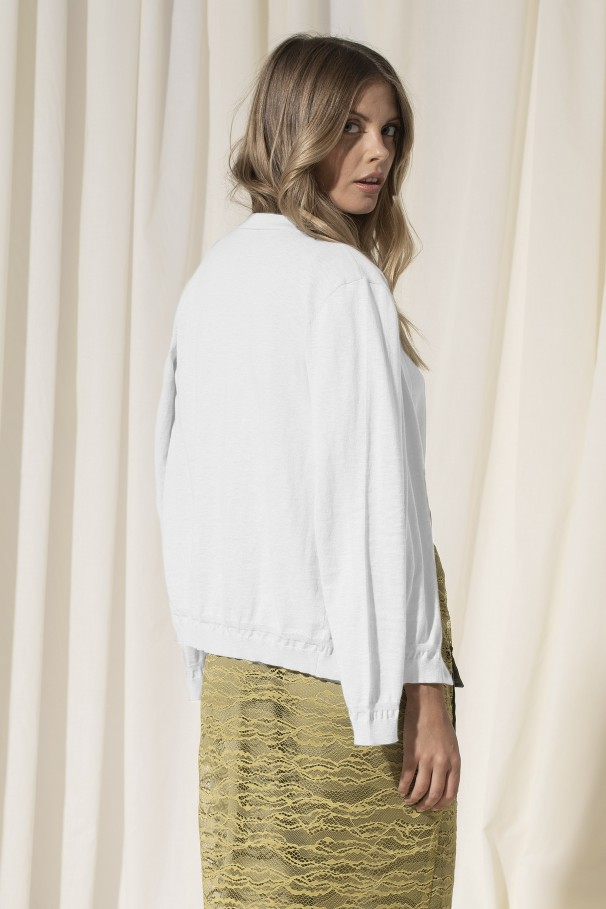 Fine-knit 100% cotton cardigan