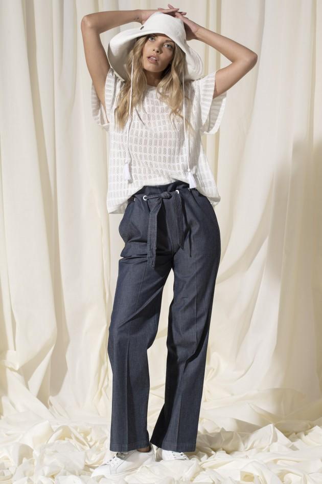 Lyocell high waist trousers