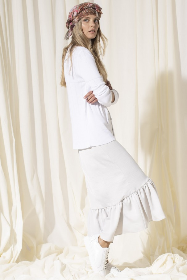 Skirt with foil