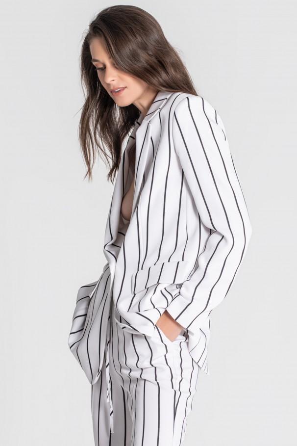 Striped fit blazer