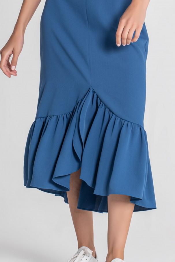Midi skirt with foil