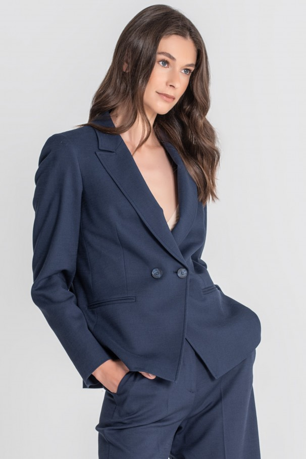 Cross blazer with buttons