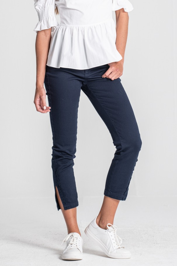 Side-detail trousers