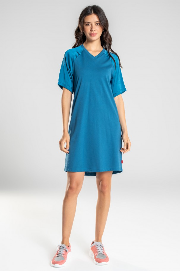 Jersey dress with opening back