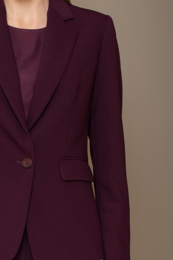 Straight single button blazer