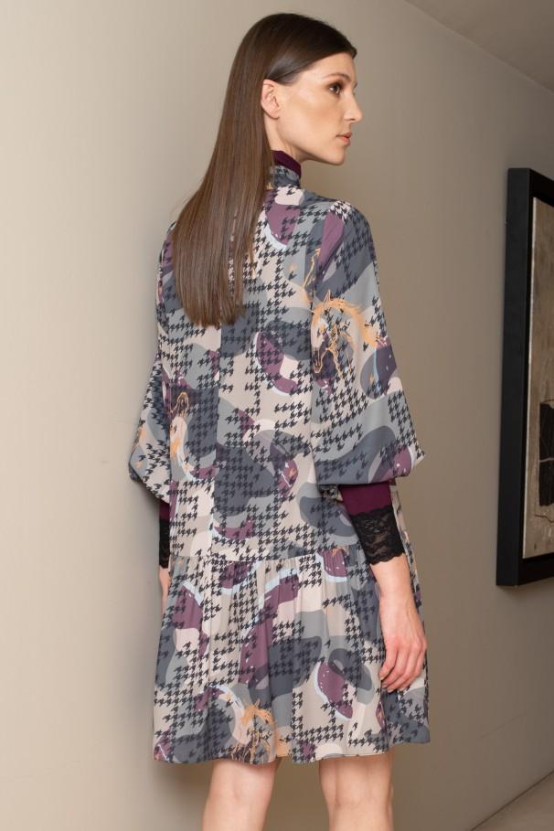 Print mini dress