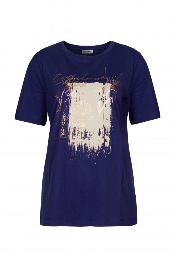 T-shirt con detalles estampados