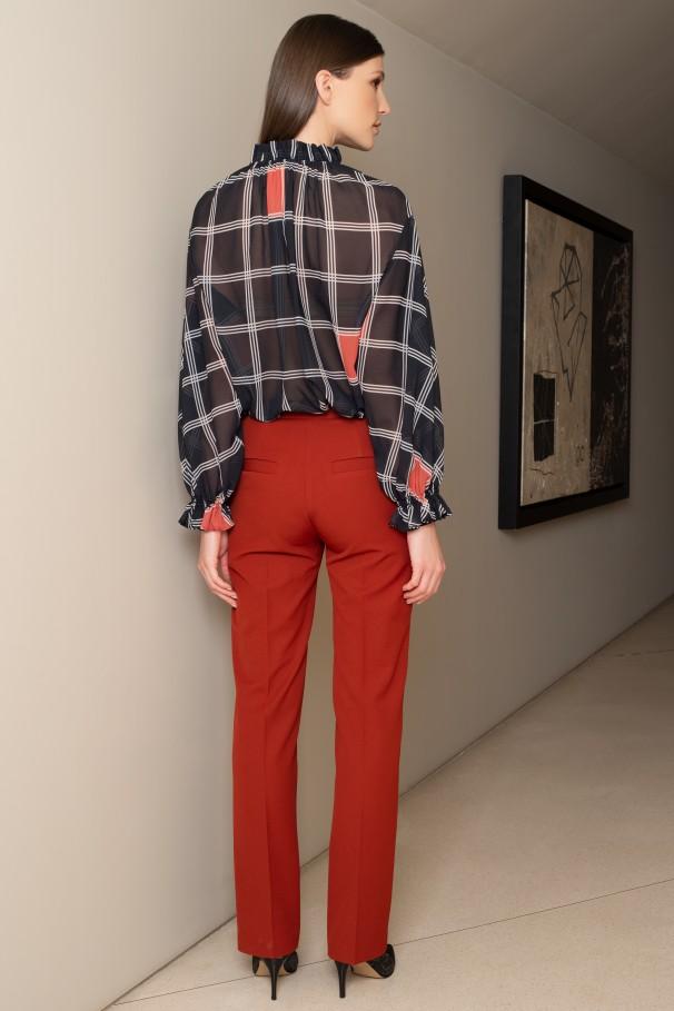 High-waist trousers