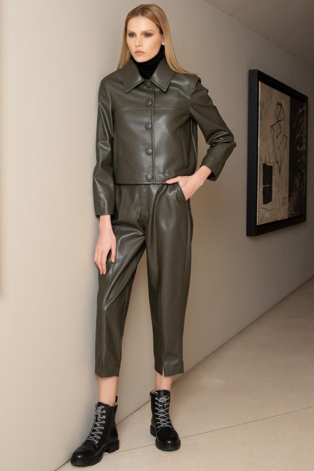 Faux leather culotte