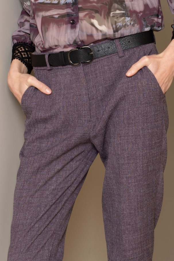Trousers with side vents
